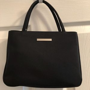 Lord & Taylor Small Black Nylon Purse